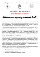 cfp on assessment flshs deadline extension