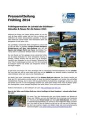 pressemitteilung loiretalderschlosser fr hling2014