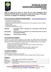 Fichier PDF annonce stage mkg 2014 produits en bretagne