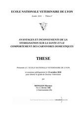 avantages et inconvenients de la sterilisation