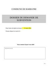 Fichier PDF demande de subvention projet dossier