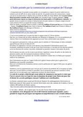 l italie pointee par commission anticorruption de l europe