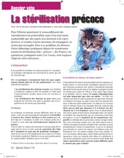 sterilisation precoce