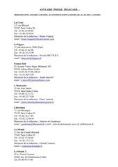 Fichier PDF annuaire presse francaise