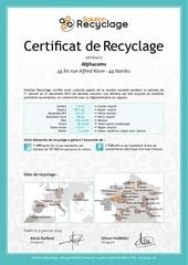 Fichier PDF certificat 2013