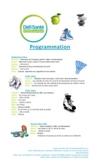 programmation defi sante
