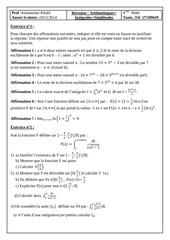 serie d exercices similitudes arithmetiques integrales