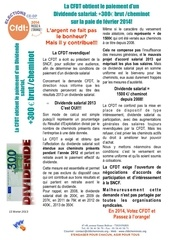 tract paiement dividende salarial 2014 annonce fevrier 2014 last