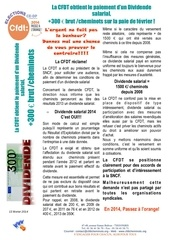 tract paiement dividende salarial 2014 annonce fevrier 2014