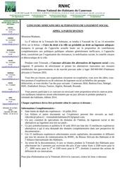 appel participation concours africain alternative log social final