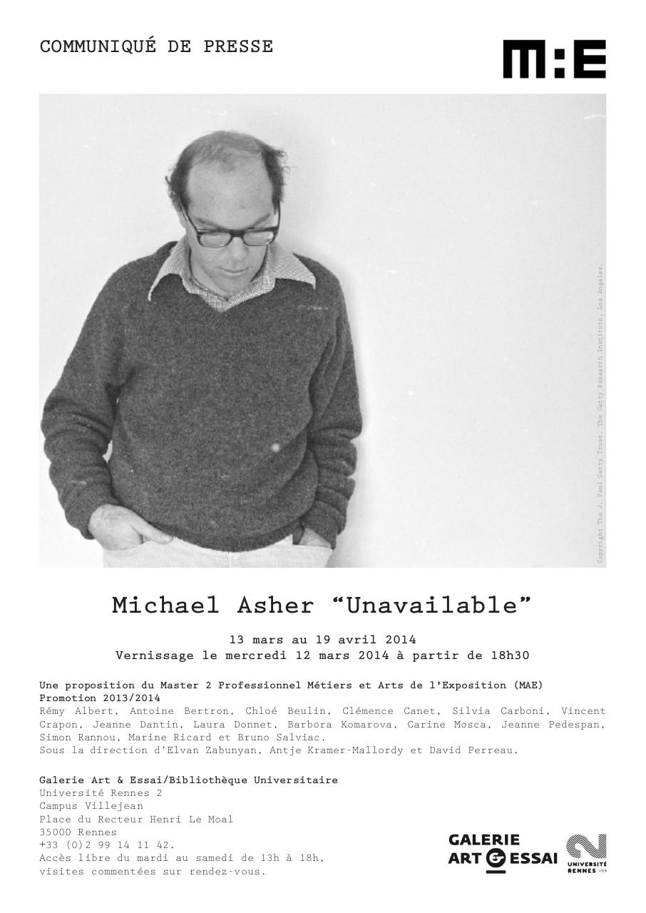 CP Michael Asher Unavailable FR.pdf - page 1/2