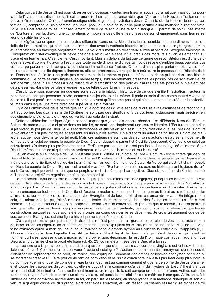 Jésus De Nazareth Ratzinger Par Georges Fichier Pdf