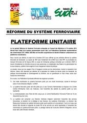 plateforme revendicative unitaire