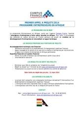 eea 1er appel a projets 2014