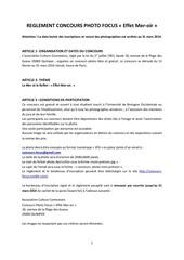 Fichier PDF reglement concours photo focus 2014