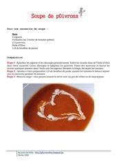 soupe poivrons