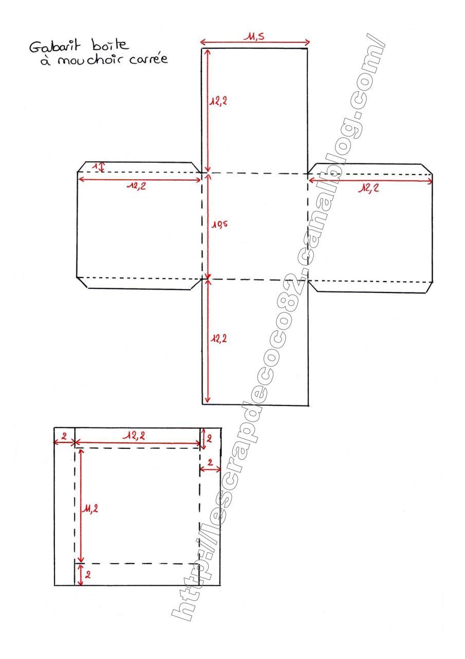 500 docx par coco 500 gabarit boite mouchoir carr fichier pdf. Black Bedroom Furniture Sets. Home Design Ideas