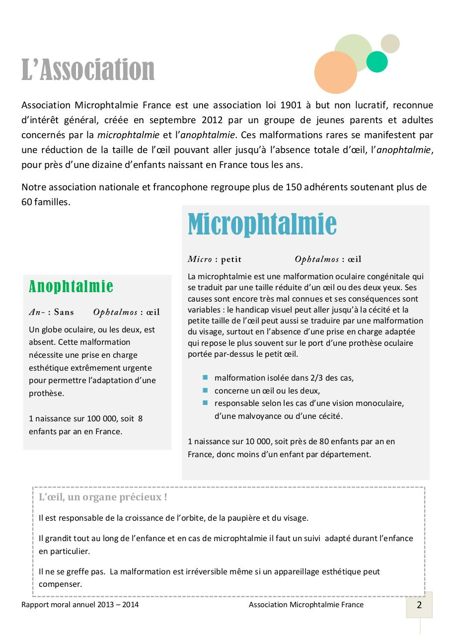 Rapport Moral 2013_Association Microphtalmie France.pdf - page 2/13