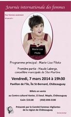 affiche journee de femme 8 mars 2014