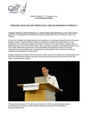 conference novancia qi racing