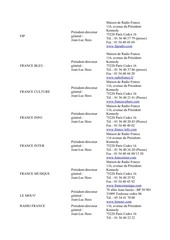 annuaires des radios france fevrier 2014