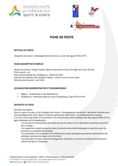 Fichier PDF fiche de poste charge de mission