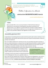bulletin 2012 association microphtalmie france