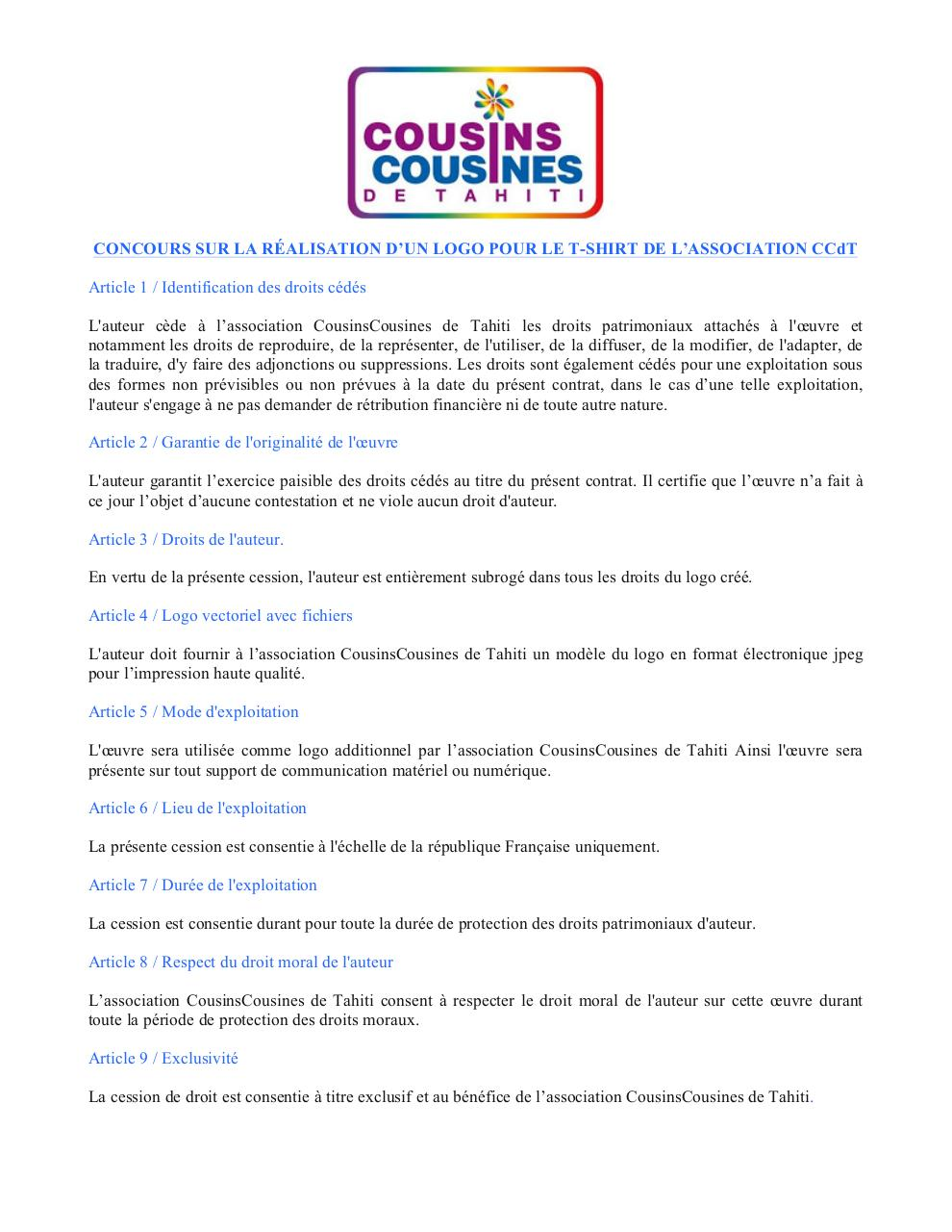 Aperçu du document Conditions de cession logo T-Shirt CCdT.pdf - page 1/1
