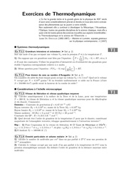 exercices de thermodynamique s1