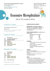 rencontre microphtalmie 2014 presentation