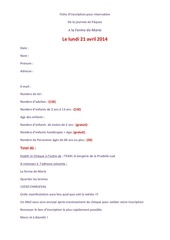 fiche d inscription du lundi 21 04 2014