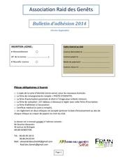 Fichier PDF adhesion