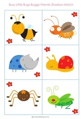 buggy friends shadow match freebie from busy little bugs