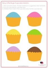 busy little bugs free cupcake match game