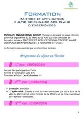 formation plan dexp alg 1
