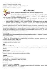 Fichier PDF offre de stage 2014