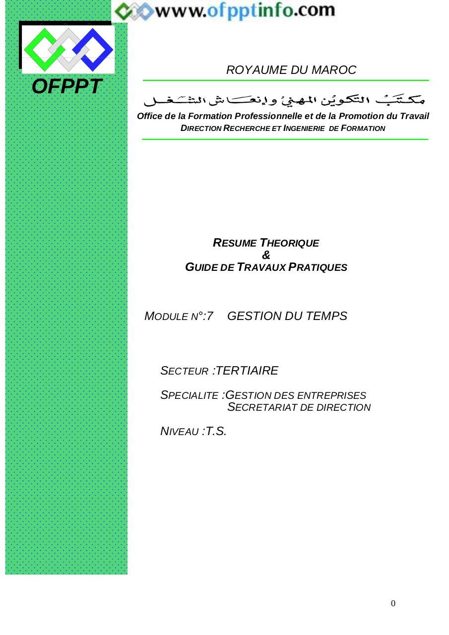 gestion du temps doc par berjaoui