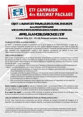 4e paquet ferroviaire mobilisation des cheminots europeens du 25 02 2014