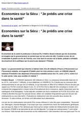 egora fr economies sur la secu quot je predis une crise dans la sante quot 2014 02 21