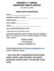 superstars tribute contest registration form