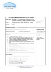 cahier des charges responsable pedagogique cefahm