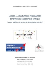 l acces a la culture des personnes en detention