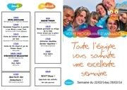 programme 22 au 28 fevrier 2014