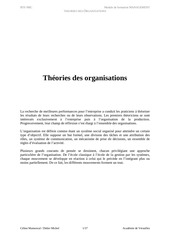 theories des organisations