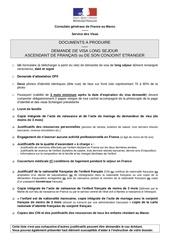 visa ascendant fr france 2