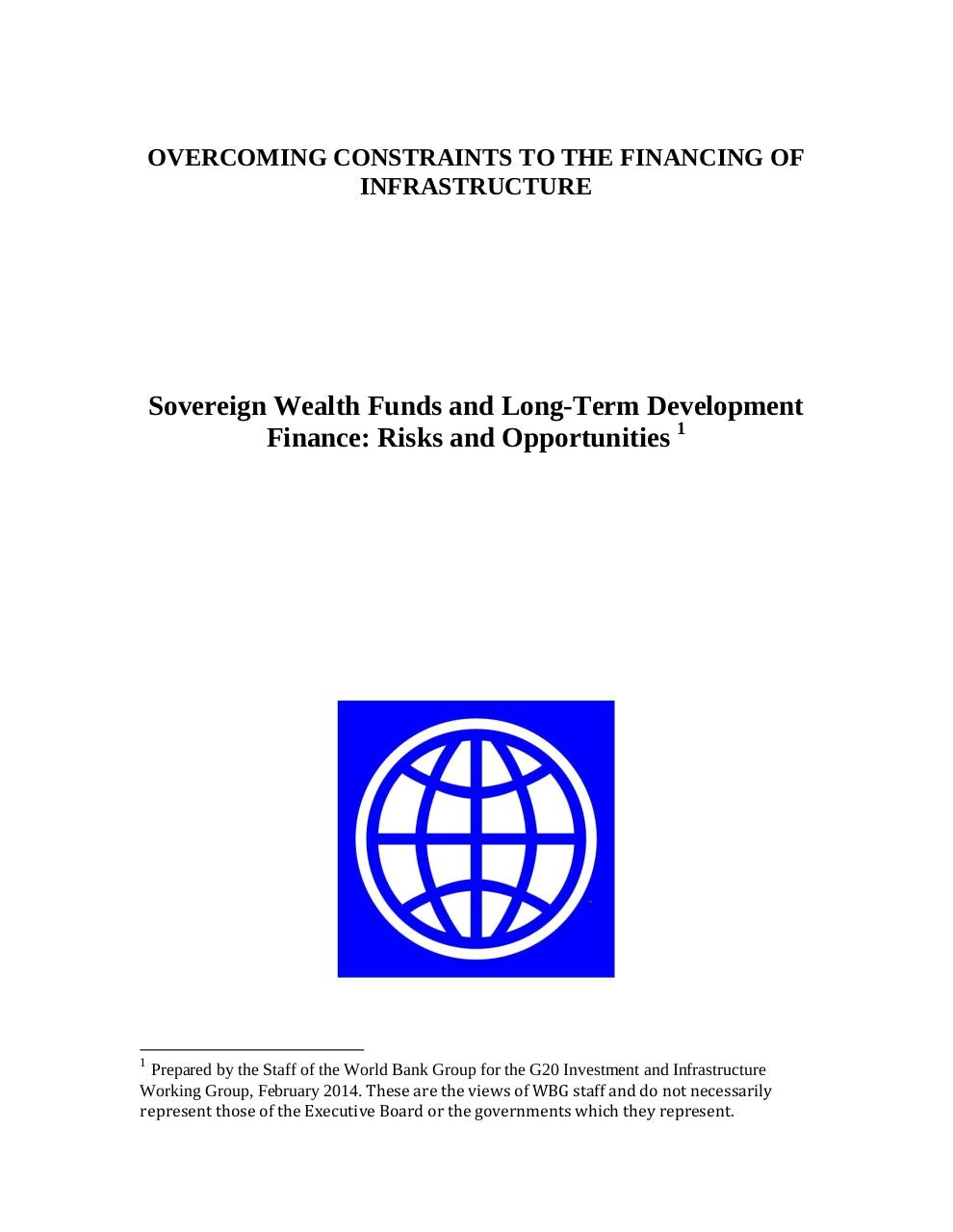Aperçu du document WBG SWF and Long Term Dev Finance Risks and Opportunities.pdf - page 1/28