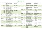 agenda mars 2014