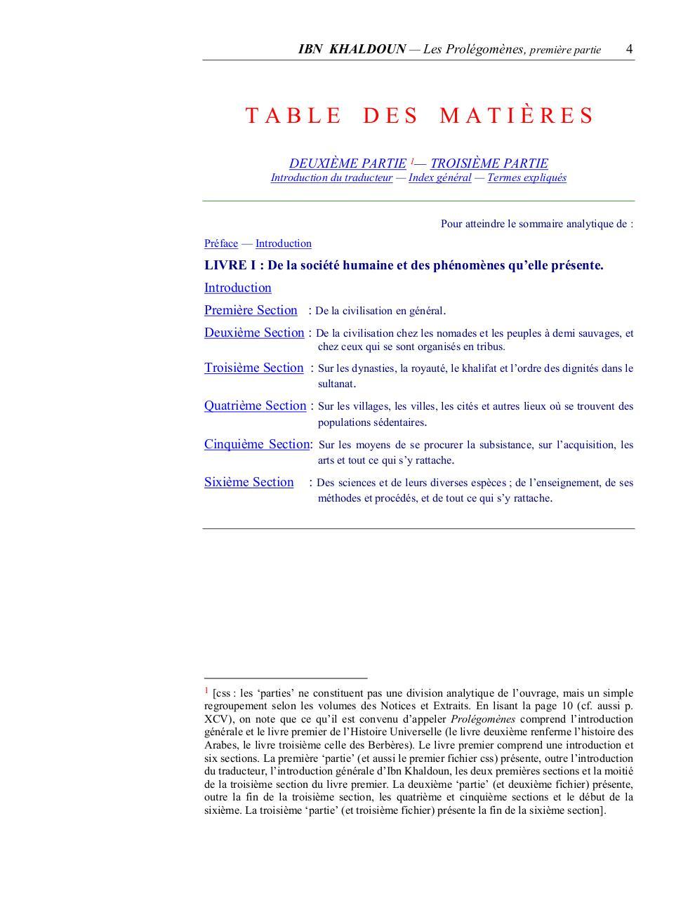 muqaddima ibn khaldoun en francais pdf