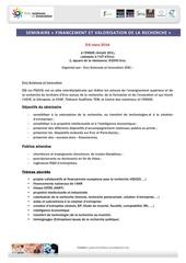 programme se minaire 5 6 mars 2014