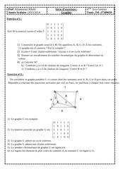 serie d exercices graphes bac economie gestion